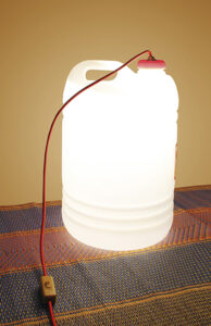 Lámpara bidón