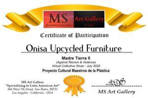Certificado de participación en exposición